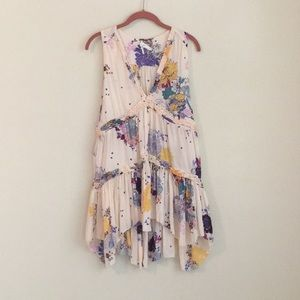 Free people floral print tunic/dress size S